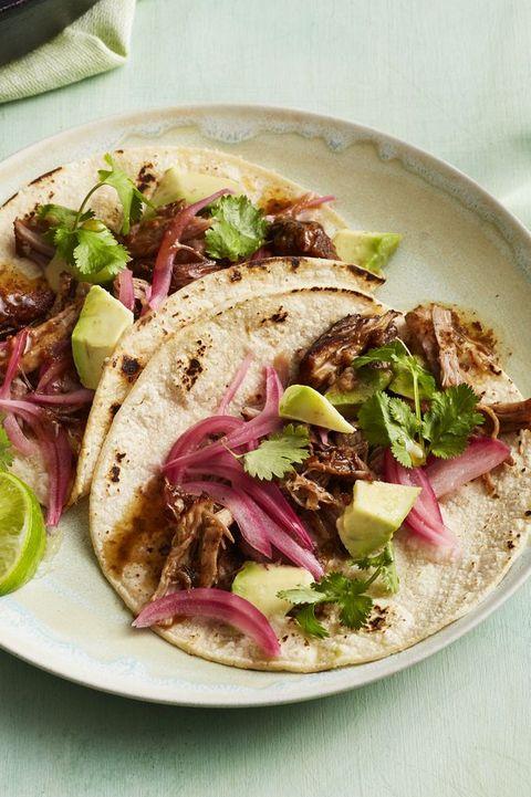 chili pork tacos