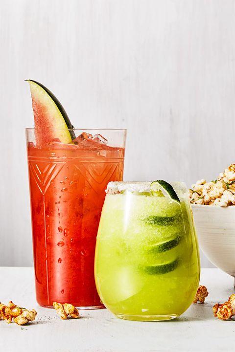 honeydew margarita and watermelon rum punch
