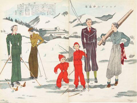 昭和10年前後のスキーウェア お洒落