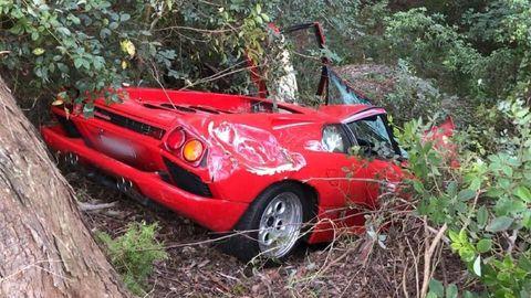 Lamborghini Diablo accidente Australia
