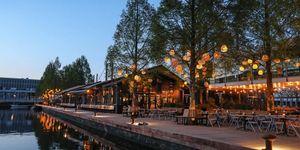 Terrassen water Amsterdam