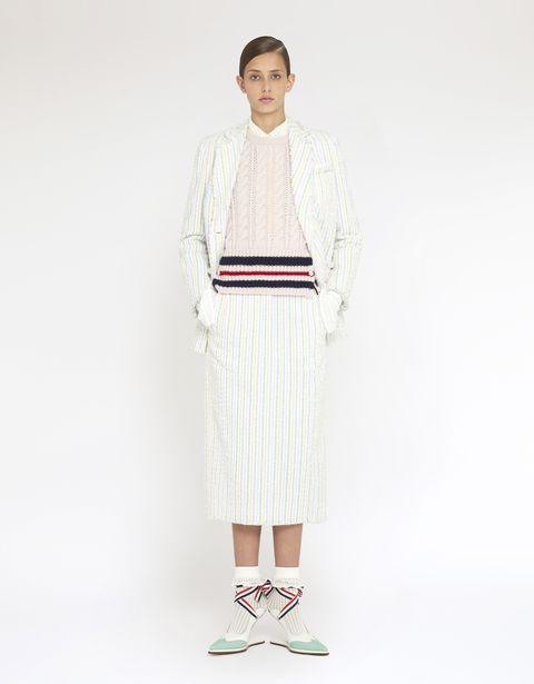 Clothing, White, Fashion, Neck, Outerwear, Dress, Robe, Beige, Sleeve, Footwear,