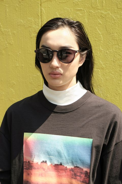 Clothing, Eyewear, Glasses, Vision care, Sleeve, Outerwear, Sunglasses, Style, Earrings, Street fashion,