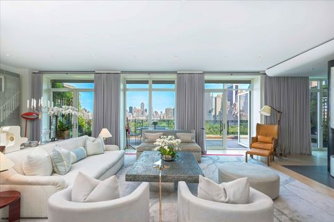 Sting Trudie Styler 15 Central Park West New York City Apartment