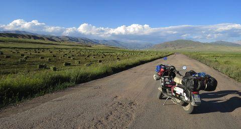 Road, Highland, Vehicle, Mountainous landforms, Mountain pass, Motorcycle, Mountain range, Motorcycling, Mountain, Ecoregion,