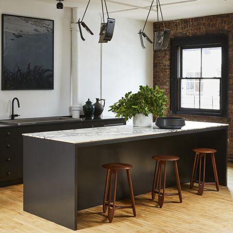 Room, Furniture, Ceiling, Interior design, Floor, Table, Property, Countertop, Dining room, Lighting,