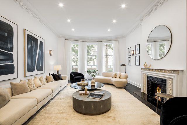 eleanor roosevelt's former townhouse, located on the upper east side of manhattan, at 55 east 74th street benjamin glazer of compass holds the listing