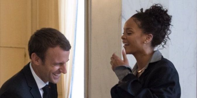 These Pictures of Rihanna and the French President and His Wife Are Total Perfection