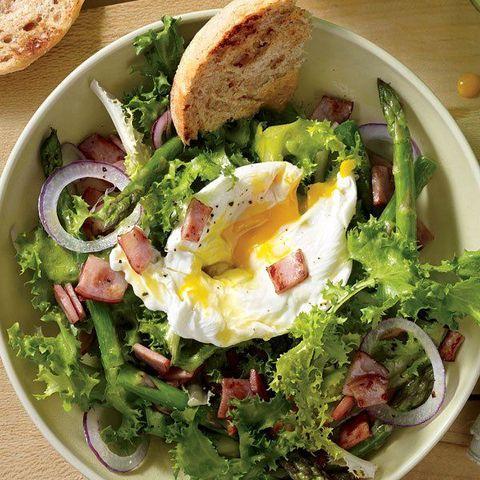 Dish, Food, Cuisine, Salad, Garden salad, Ingredient, Brunch, Caesar salad, Leaf vegetable, Produce,
