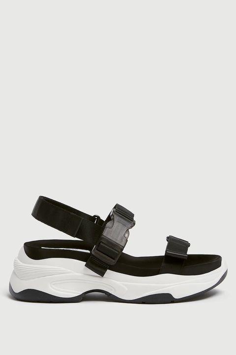 Footwear, Sandal, Shoe, Mary jane, Leather, Beige,