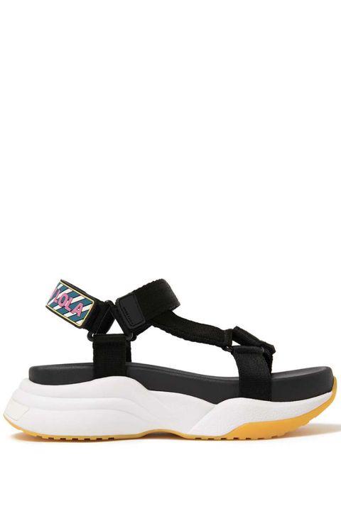 Footwear, Black, Shoe, Sandal, Beige,