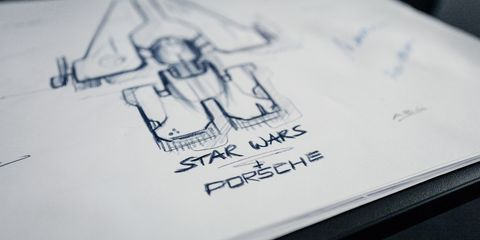 Porsche and Star Wars Teaming to Build Taycan-Inspired Starship