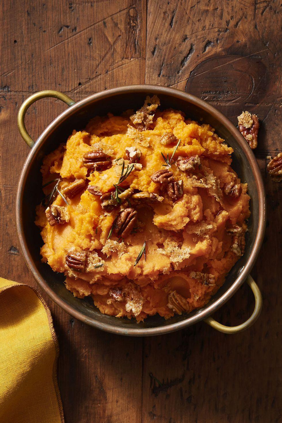 Rosemary-Pecan Mashed Sweet Potatoes dish recipe