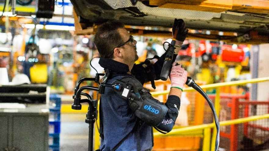Humans Wearing Exoskeletons Will Work in Ford Plants
