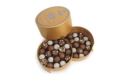 Praline, Food, Chocolate, Confectionery, Cosmetics, Metal, Bonbon, Cuisine,