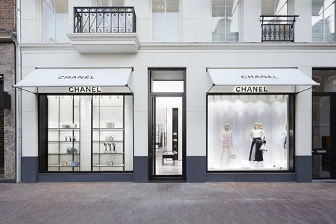 Building, Facade, Door, Boutique, Display window, Architecture, Display case, Window, Black-and-white, House,
