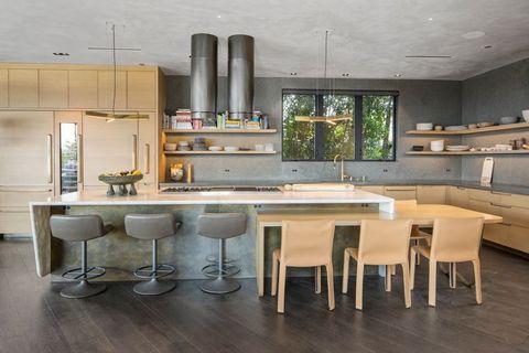 Wood, Floor, Room, Interior design, Flooring, Countertop, Glass, Furniture, Table, Hardwood,