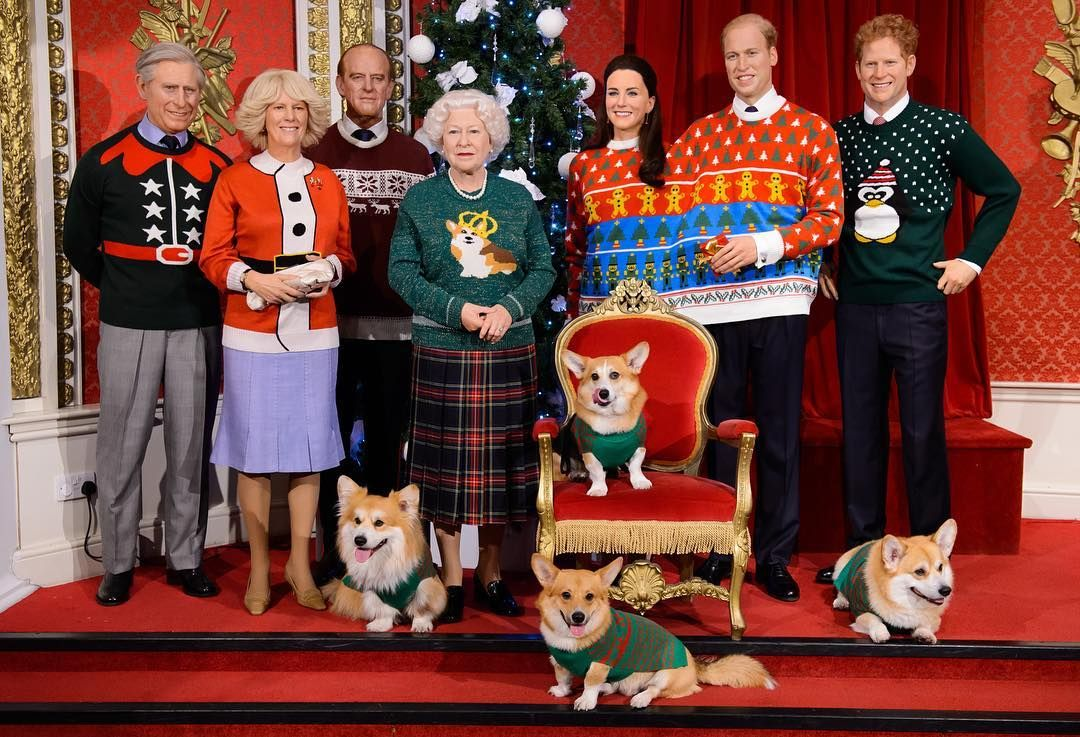 Madame Tussauds Dresses the Royal Family in Ugly Christmas Sweaters