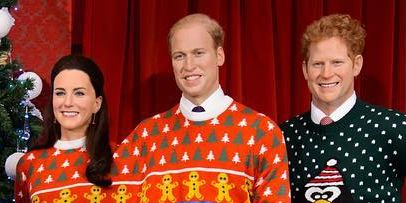 Ugly Christmas Family Pictures.Madame Tussauds Dresses The Royal Family In Ugly Christmas