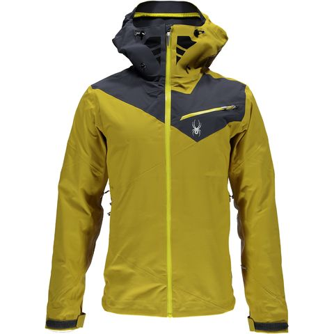 Jacket, Yellow, Sleeve, Personal protective equipment, Standing, Outerwear, Workwear, Raincoat, Zipper, Sweatshirt,