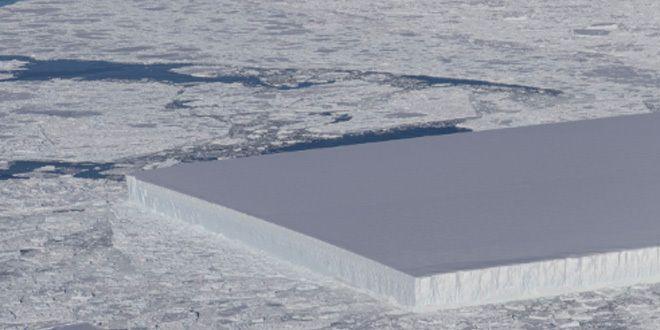 ¿Qué hace un bloque perfectamente rectangular en mitad de la Antártida?