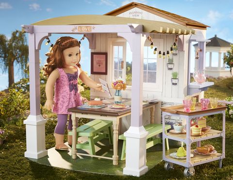 Dollhouse, Toy, House, Building, Furniture, Table, Doll, Play, Outdoor structure,