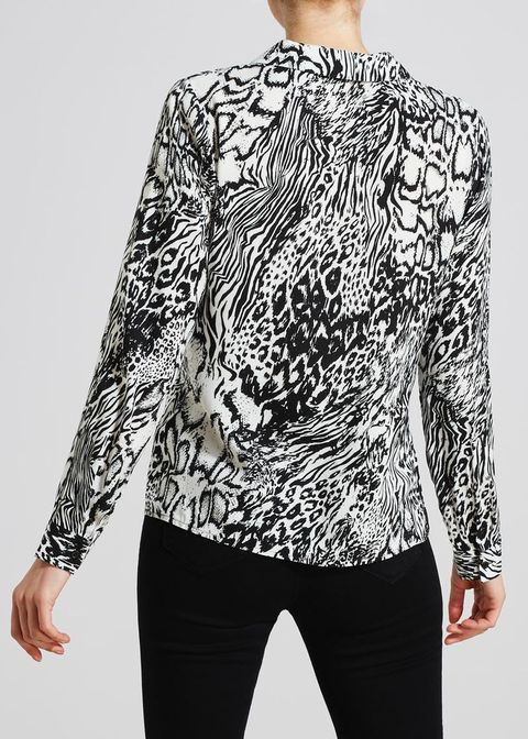 10064756225b Matalan's animal print blouse is perfect for desk-to-drinks