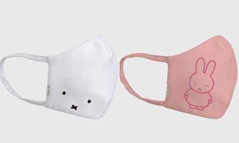 白色和粉色的限量版口罩