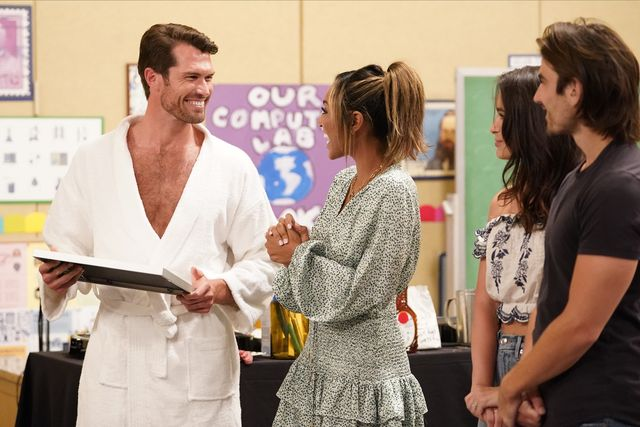 """the bachelorette   """"1606"""" – it's """"game on"""" when ashley i and jared pay a special visit to tayshia, running and judging a competition to test the strength and maturity of eight of her suitors who will win the coveted title, and who will struggle to the finish line dramatic faceoffs between the men prove a distraction, but the bachelorette manages to squeeze in some romance refusing to give up, two hotheaded rivals try to pull tayshia into the fray right before the rose ceremony a group of the guys will be coached by former four time women's champion and wwe hall of famer amy dumas and current undefeated ufc fighter tatiana suarez through wrestling drills to prepare for a big match in front of the men not on the date fan favorite wells adams calls the wild action with chris harrison who will fight for tayshia's heart and emerge victoriously finally, one smooth move will cement a bachelor's status as public enemy number one with the other jealous men on """"the bachelorette,"""" tuesday, nov 17 800 1001 pm est, on abc abccraig sjodinbennett, tayshia adams"""