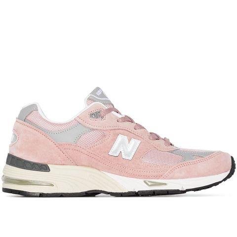 new balance 991粉色球鞋