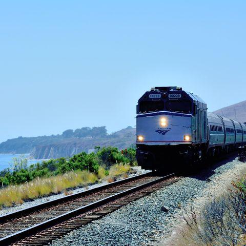 Transport, Track, Railway, Train, Mode of transport, Vehicle, Locomotive, Rolling stock, Rolling, Sky,