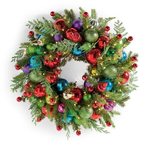 Grandin Road Merry and Bright Cordless Wreath