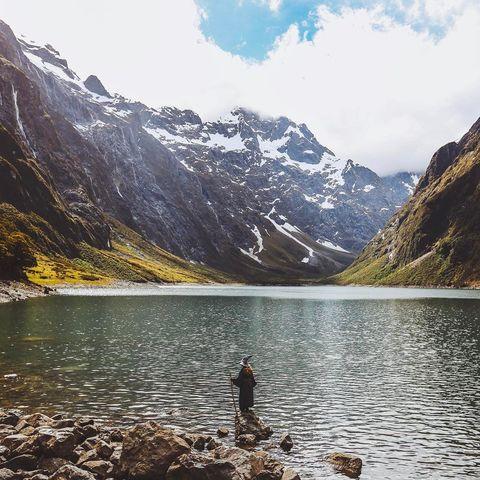 Mountainous landforms, Mountain, Body of water, Highland, Wilderness, Mountain range, Sky, Tarn, Natural landscape, Lake,