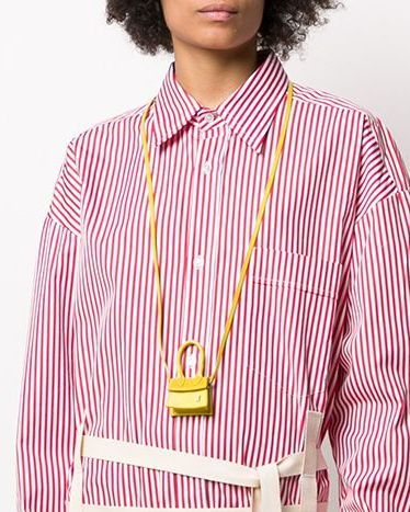 Clothing, Collar, Pink, Yellow, Outerwear, Neck, Sleeve, Dress shirt, Shirt, Fashion accessory,