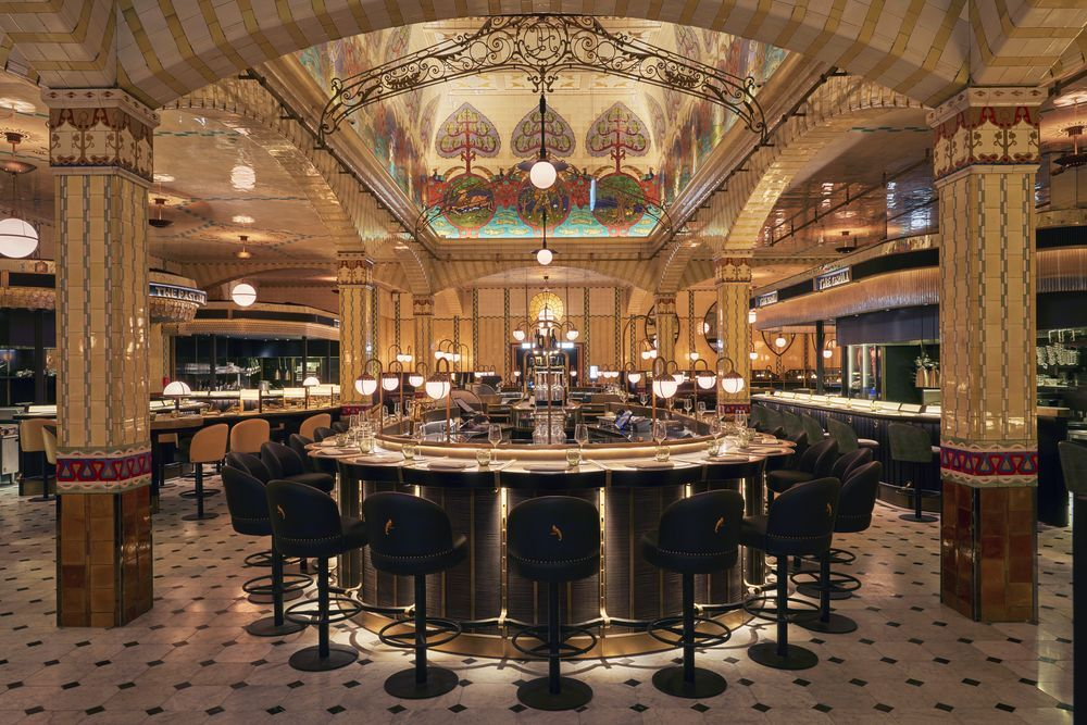 Harrods' Food Hall opens with interiors by David Collins Studio