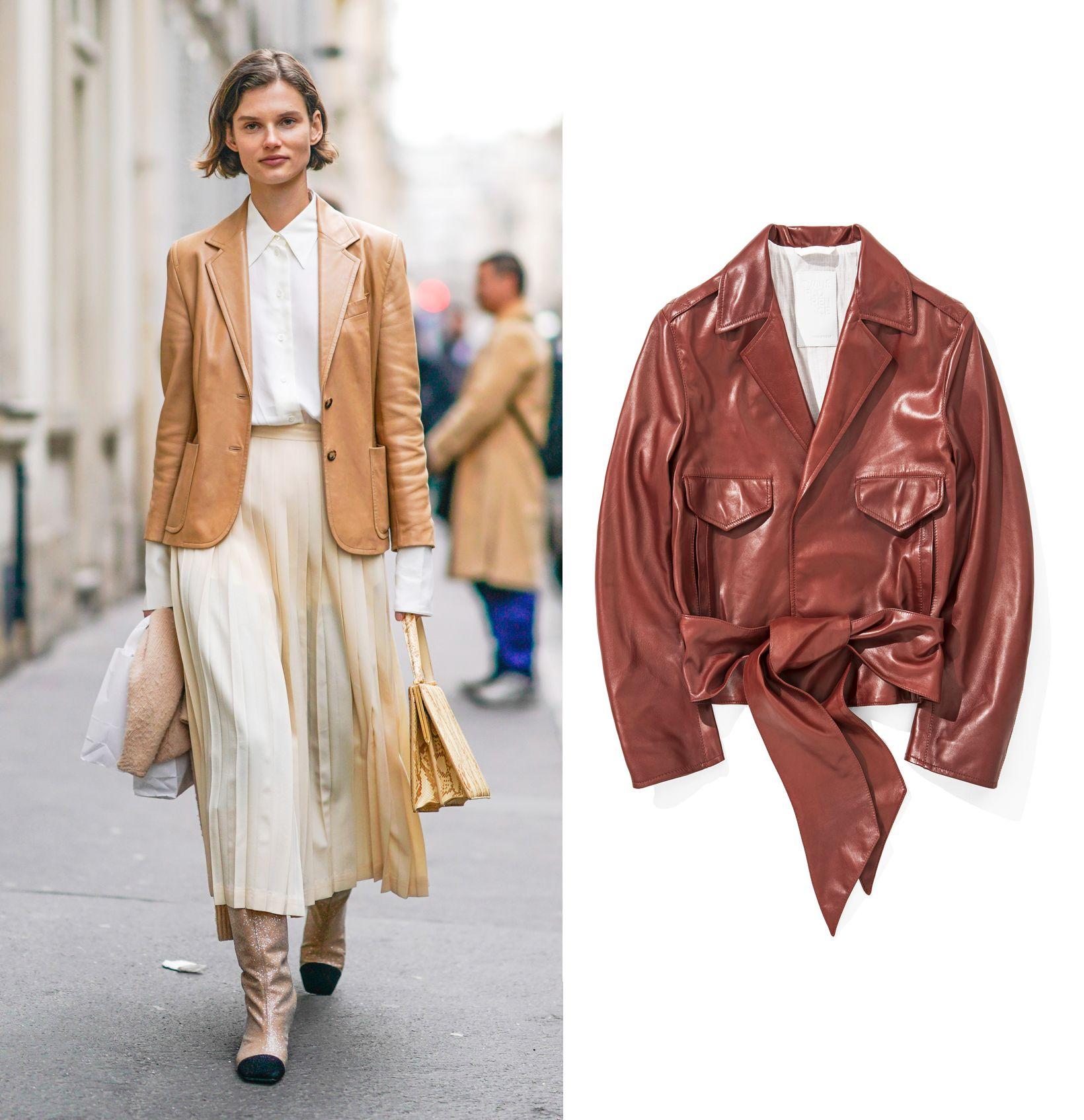 Giacca di pelle e blazer