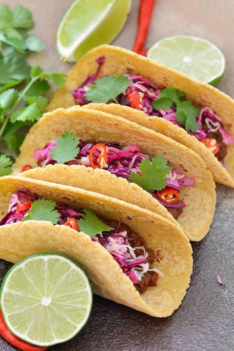 A Virtual Vegan Enchilada Lentil Tacos