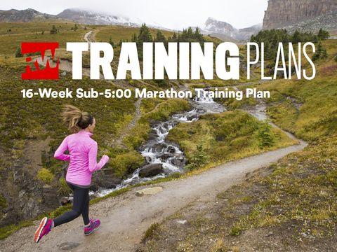 sub-5:00 marathon training plan