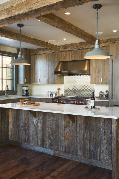 Countertop, Room, Furniture, Cabinetry, Interior design, Property, Building, Ceiling, Kitchen, Wood flooring,