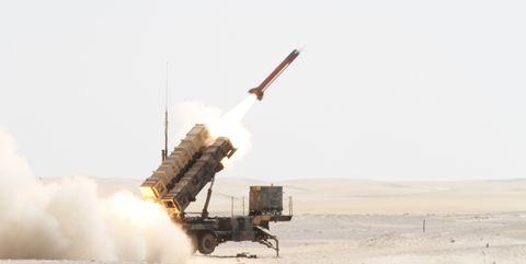 Patriot PAC-2 missile launch.