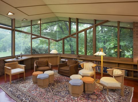 Untouched Frank Lloyd Wright Home From The Market