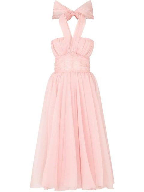 vestido rosa de dolce and gabbana