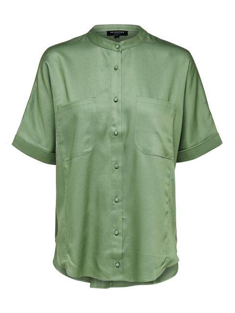 maokraag overhemd kortemouwen