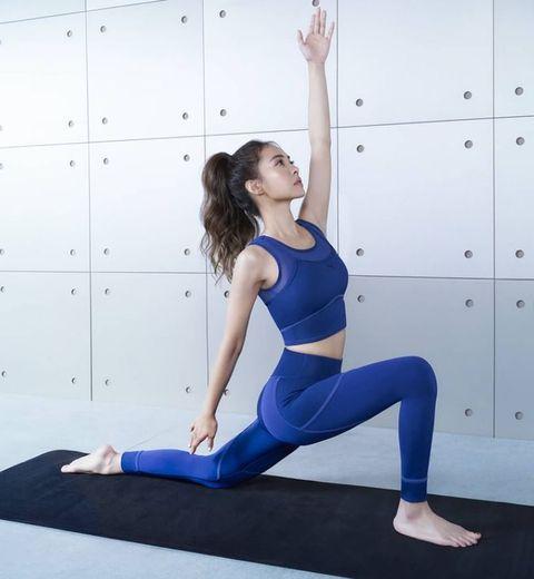 蔡依林做瑜珈