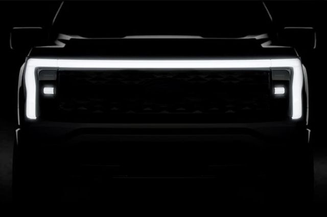 ford electric f 150 teaser image