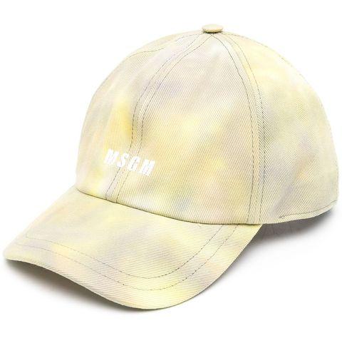 msgm logo 暈染棒球帽