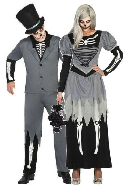skeleton men woman costume
