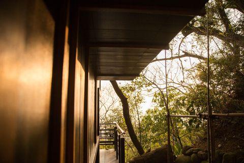 台中最美餐廳!隱身山林的無菜單日料「飛花落院」,遠眺山脈、晚霞倒影⋯每個角落都是秘境