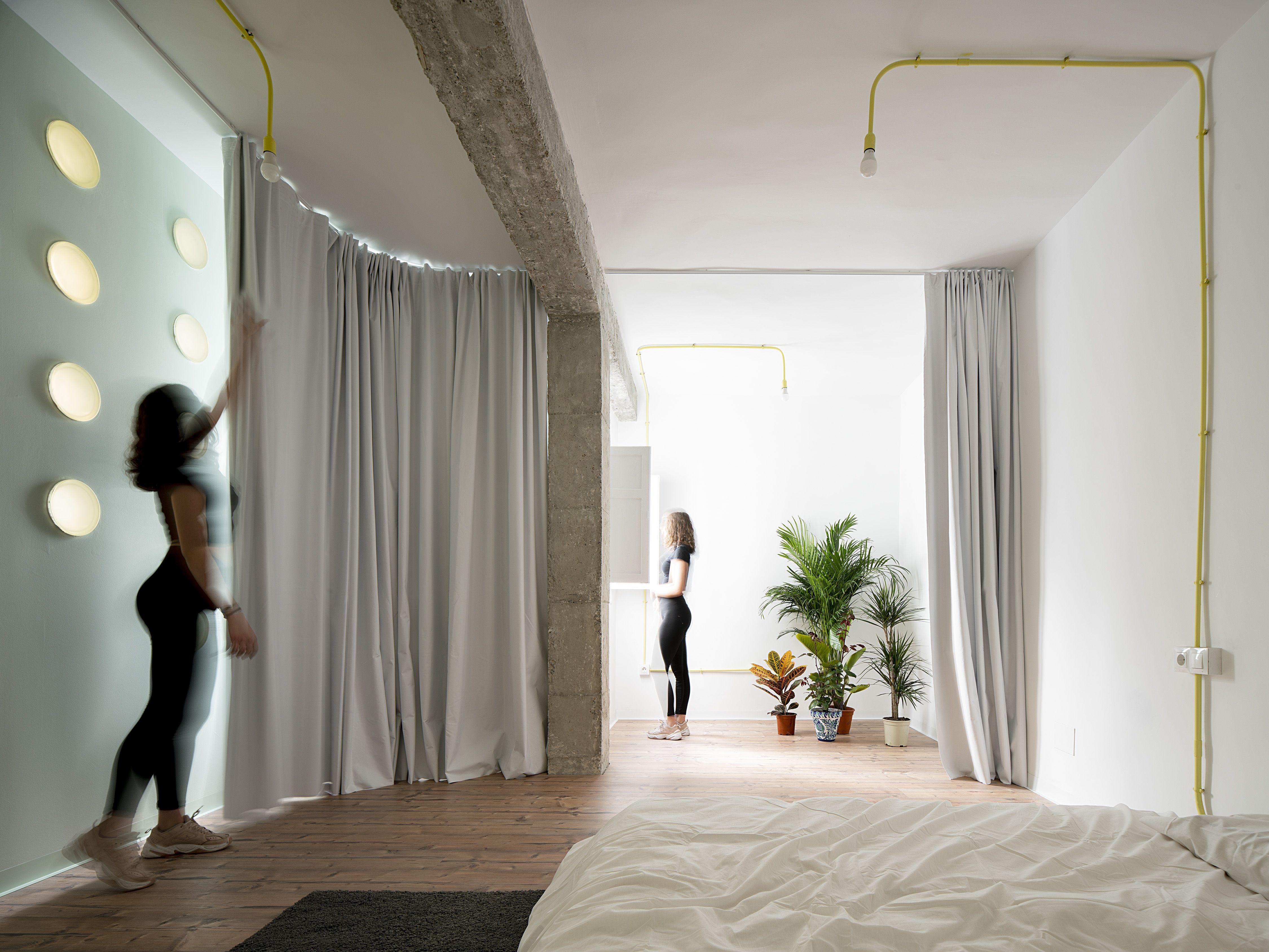 Lo Space Senza Pareti come dividere una casa open space con le tende, un progetto
