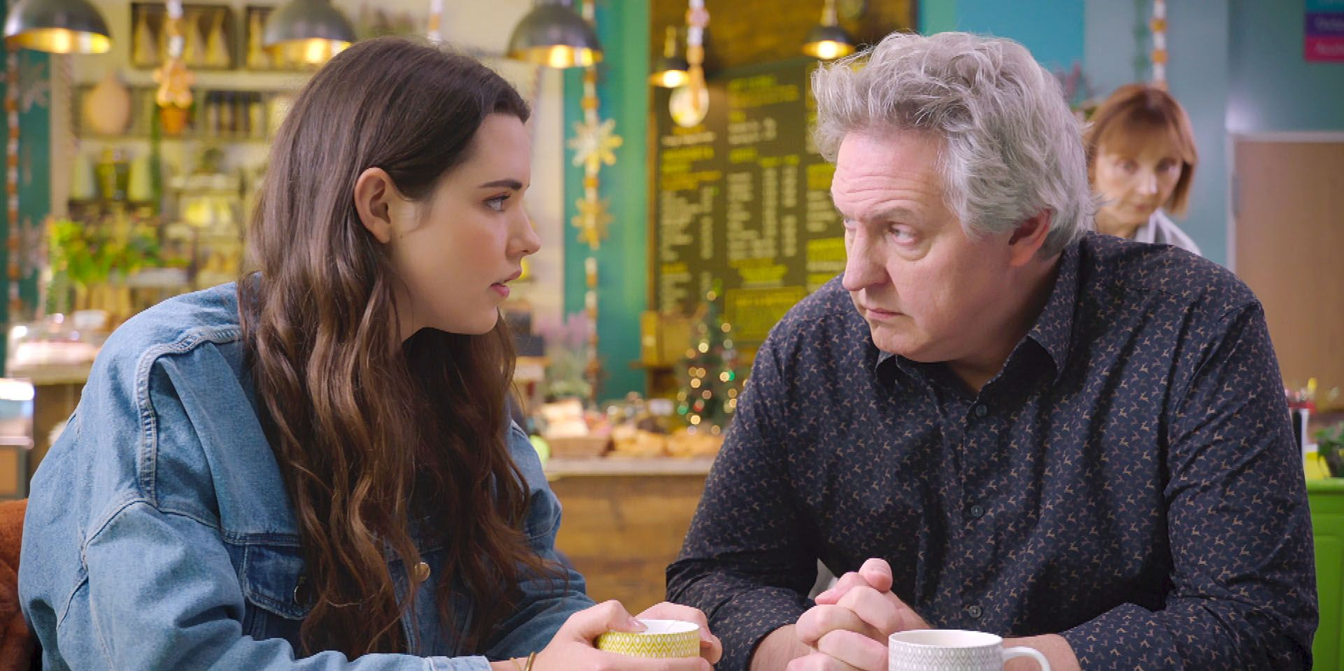 Sacha confides in Beka in Holby City